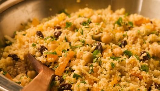 Couscous With Chickpeas & Pistachios Recipe — Dishmaps