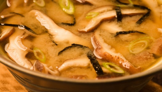 Mushroom Miso Broth with Buckwheat Noodles