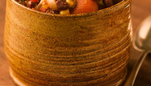 Southwestern Black Bean & Corn Chili