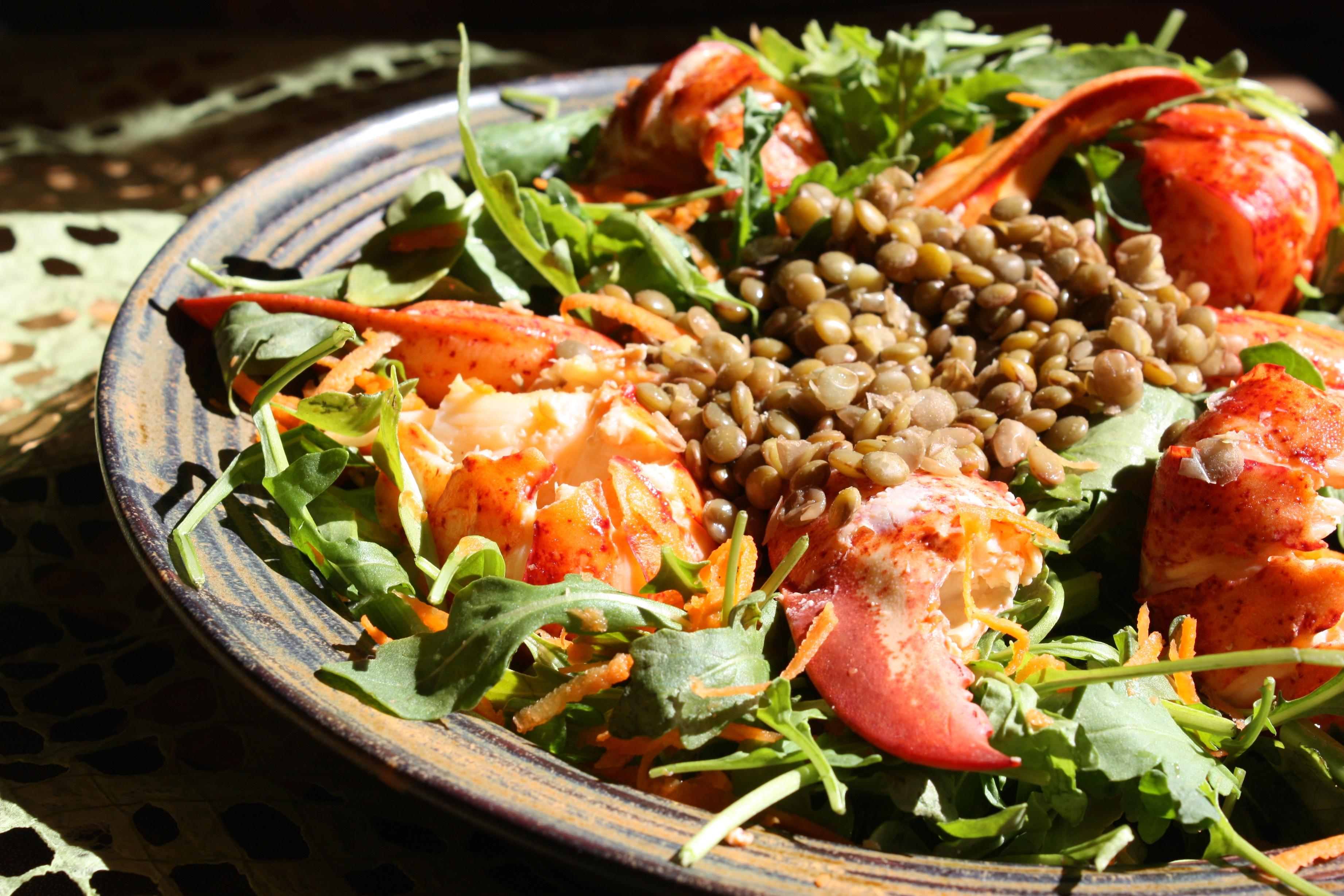 lentil vegetables through pasta green lentils with arugula and pasta ...