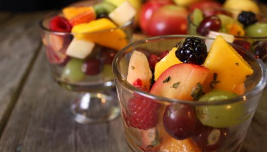 Fruit Salad with Savoury Dressings